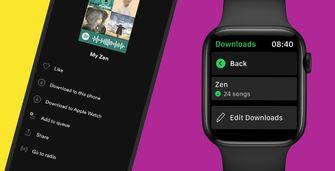 Spotify downloads op Apple Watch