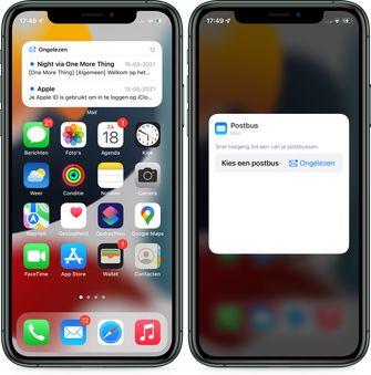 iOS 15 mail widget