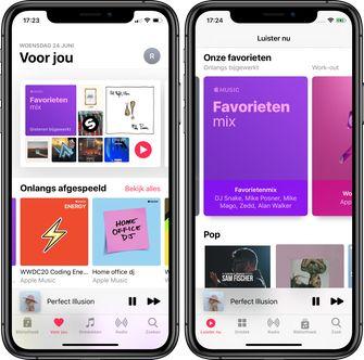 muziek-app ios 13 vs ios 14