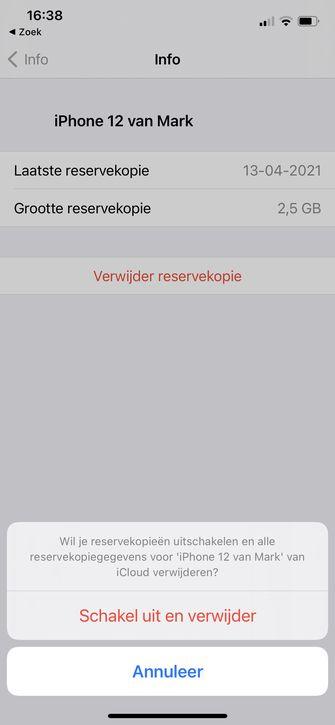iCloud kopie verwijderen