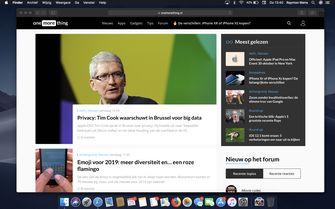 Safari macOS Mojave Dark Mode