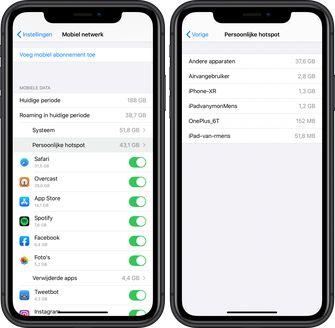 iOS 13 persoonlijke hotspot 001