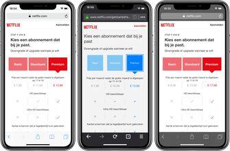 Netflix prijzen Nederland