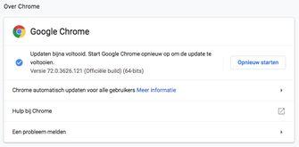 Google Chrome updaten