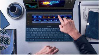 Asus zenbook pro duo antowoord op touch bar macbook pro