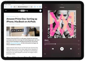 Spotify iPad split screen slide over 002