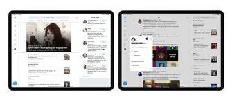 Twitter herontwerp iPad