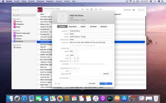macOS Catalina muziek-app opvolger iTunes metadata bewerken