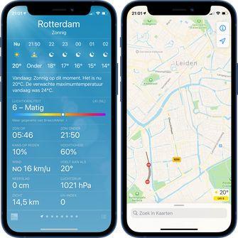 iOS 14.7 weer-app