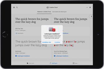 Adobe iOS 13 iPadOS 13 fonts lettertypen 001