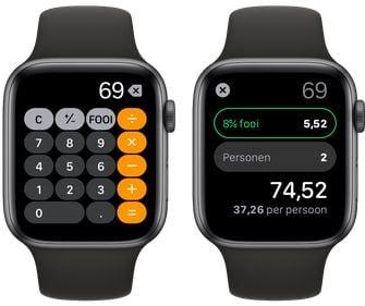 Apple Watch watchos 6 rekenmachine