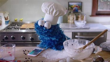 Apple reclame cookie monster