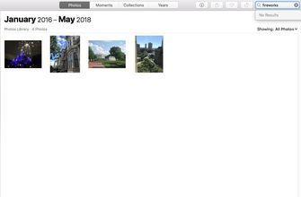 Zoeken in Apple Foto's