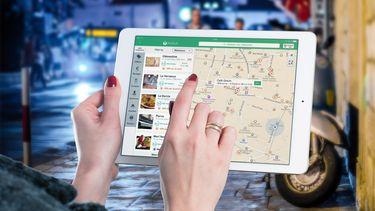 Witte iPad Mini locatiedata