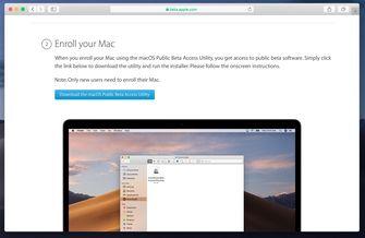 macOS 10.15 Catalina publieke beta 001