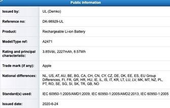 iPhone 12 batterij