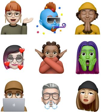 iOS 13.4 memoji stickers