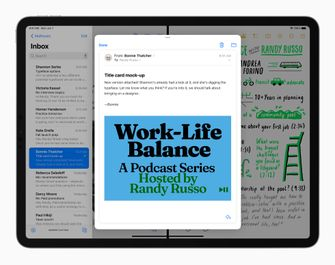 iPadOS 15 splitview