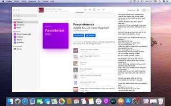macOS Catalina muziek-app opvolger iTunes songtekst