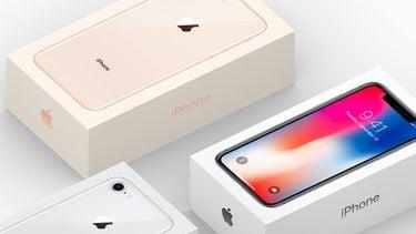 iPhone X en iPhone 8 doosjes 16x9