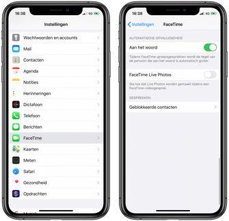 FaceTime rustiger iOS 13.5