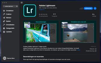 Adobe Lightroom Mac App Store dark