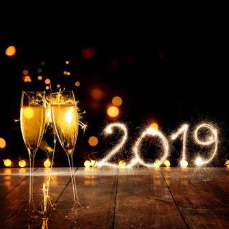 Toast op het nieuwe jaar