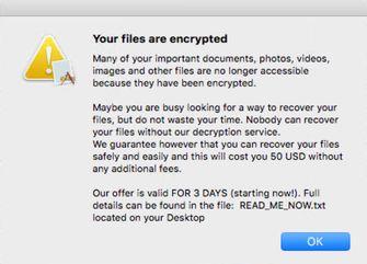 EvilQuest encryption message