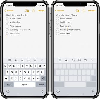 3d touch haptic touch toetsenbord