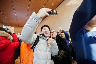 Apple Zuid-Korea Seoul Garosugil Angela Ahrendts selfie
