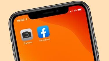 Facebook iPhone camera 16x9