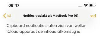 Klembord iOS 14