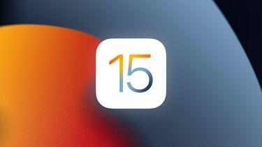 iOS 15 logo background