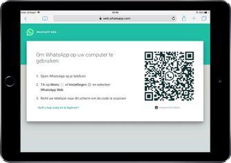 Web WhatsApp op je iPad