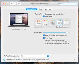 MacBook Pro 16-inch schermresoluties