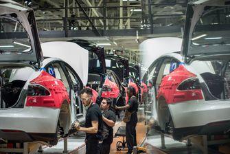 Tesla Fabriek in Fremont, Californië