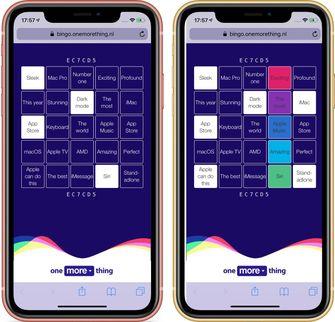 WWDC 2019 keynote bingo op iPhone XR