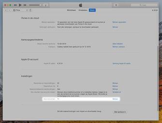 iTunes abonnementen beheren