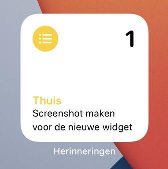 Herinneringen Widget iOS 14
