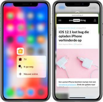 3D Touch iPhone Xs