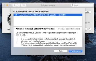 macOS Catalina 10.15.6 extra update