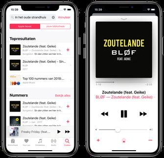 Apple music songteksten