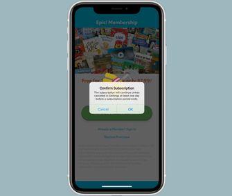 Apple App Store abonnement bevestigen