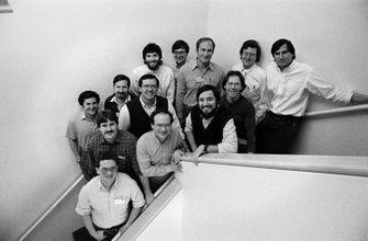 Steve Jobs met het NeXT team