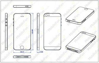 De iPhone5 schets van MobileFun