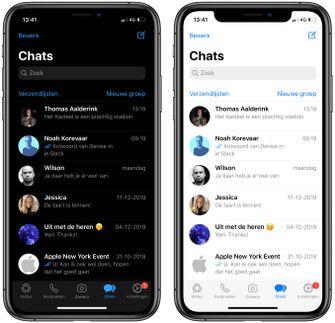 WhatsApp iOS iPhone Dark mode 003