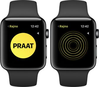 Apple Watch walkietalkie watchos 5 praat luister