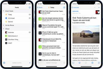 NetNewsWire 6 voor iPhone screenshots