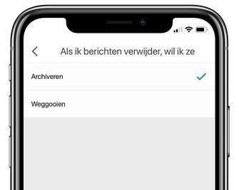 gmail ios app berichten verwijderen