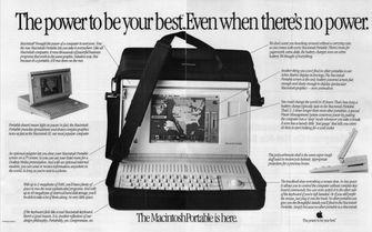 Macintosh Portable advertentie